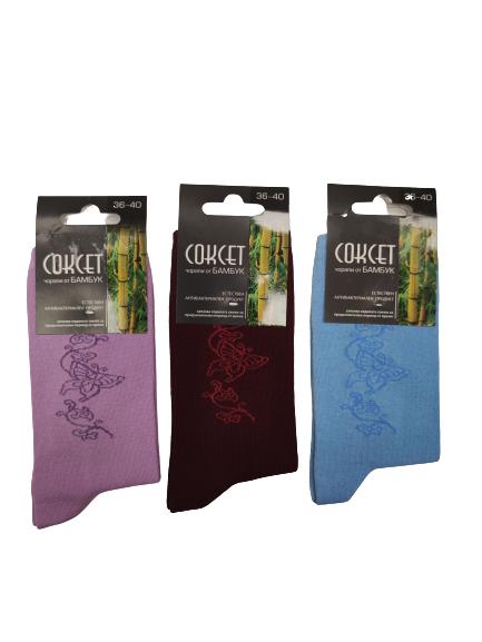 Дамски чорапи от бамбук цветя