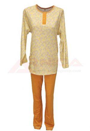 дамска-пижама-трико-златев-жълта