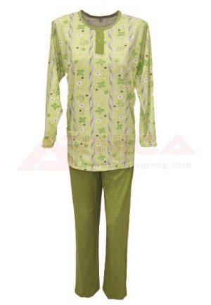 пижама трико зелена