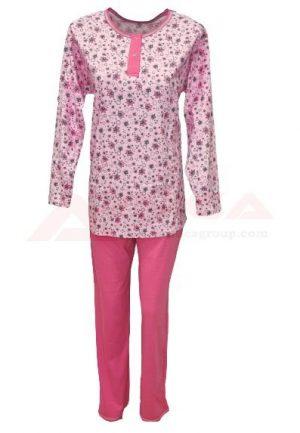 дамска-пижама-трико-златев-розова