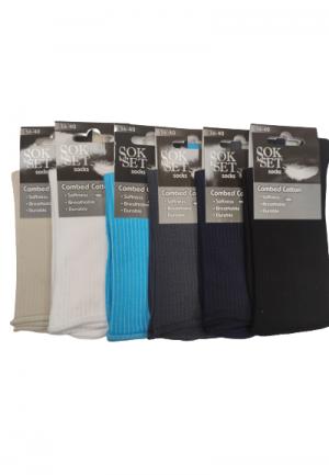 Дамски чорапи без ластик за разширени вени от памук