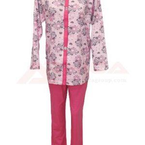 пижама-с-цяло-закопчаване-златев-розова