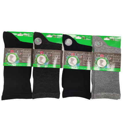 Мъжки чорапи без ластик за разширени вени от бамбук