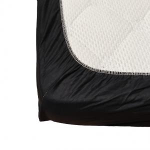 Долен чаршаф с ластик ранфорс черен