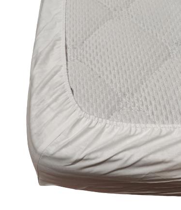 Долен чаршаф с ластик ранфорс бял