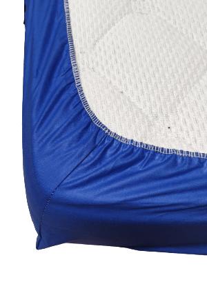 Долен чаршаф с ластик ранфорс син
