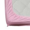 Долен чаршаф с ластик ранфорс розов