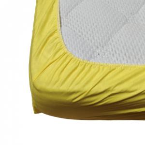 Долен чаршаф с ластик ранфорс жълт
