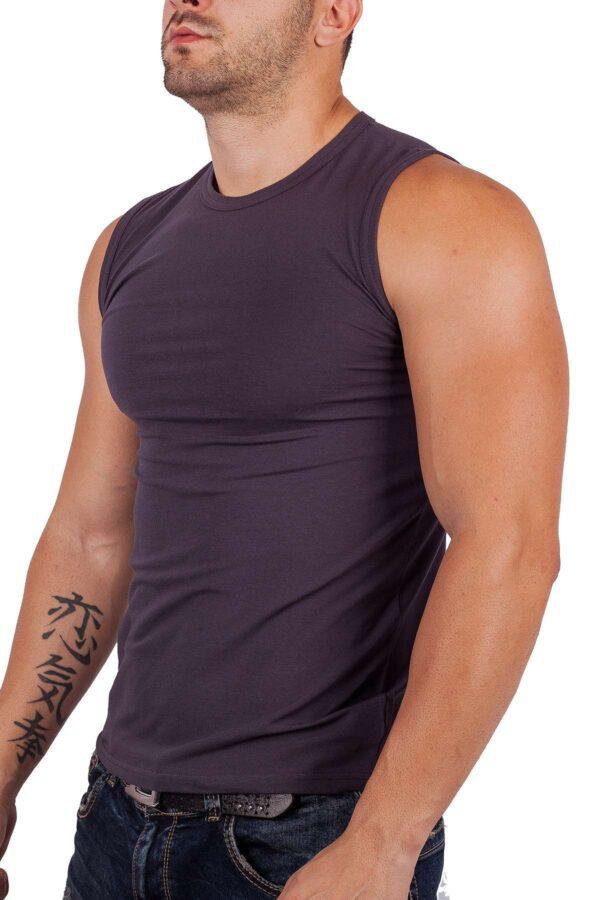 Тениска без ръкав от памук и ликра