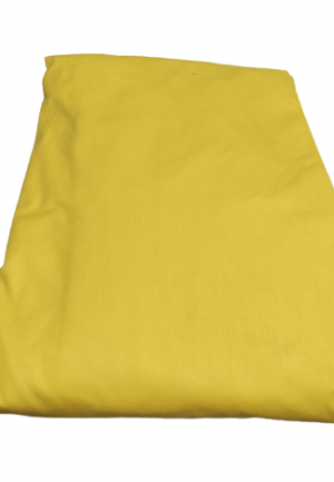 Долен чаршаф ранфорс жълт