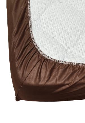 Долен чаршаф с ластик ранфорс кафяв