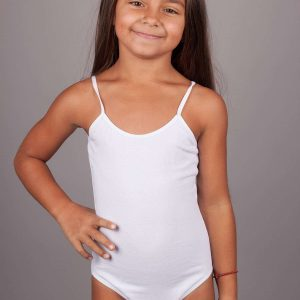 Детско памучно боди с тънка презрамка