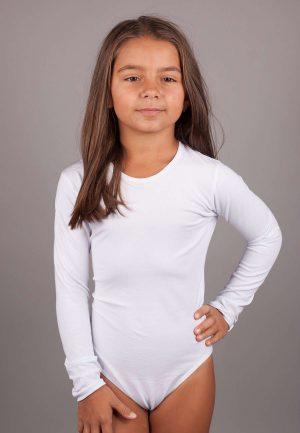 Детско памучно боди с дълъг ръкав
