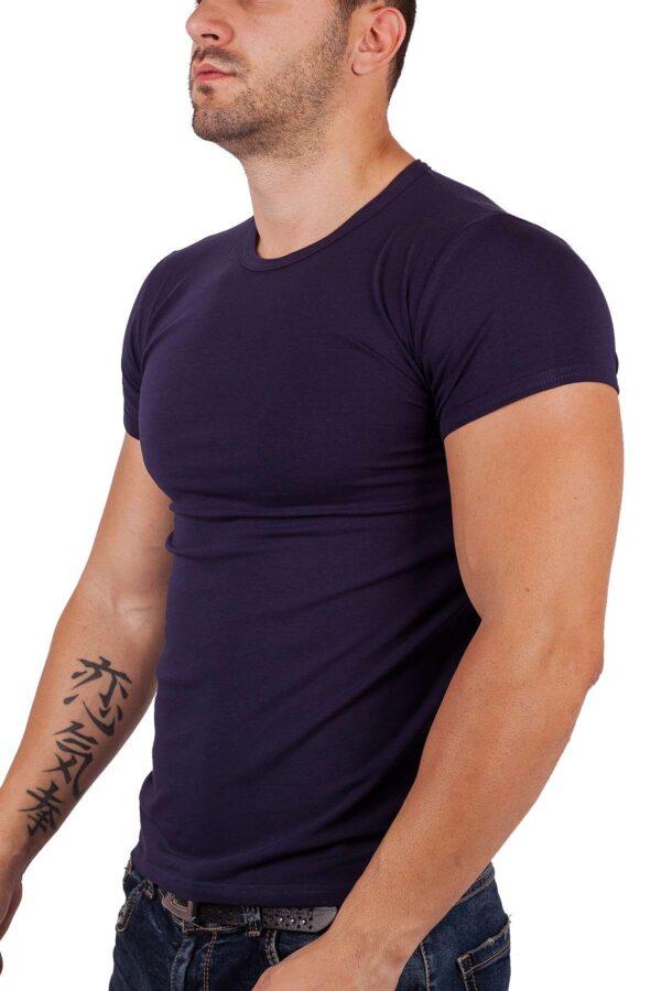 Тениска къс ръкав памук и ликра