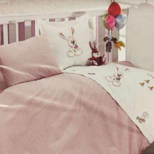 Спален комплект бебе лукс Зайче в 2 цвята
