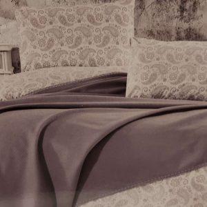 Луксозен комплект с пике в сиво