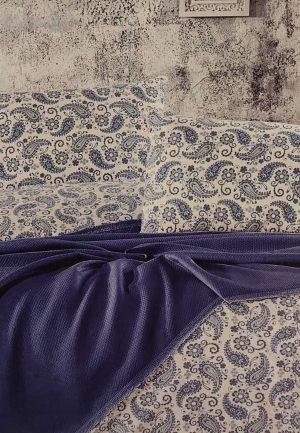 Луксозен комплект с пике в синьо