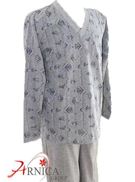 Мъжка пижама трико сива