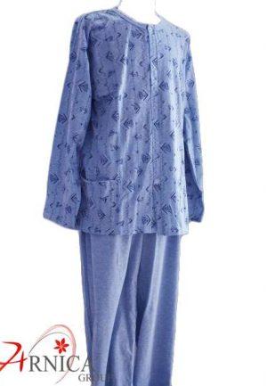 Мъжка пижама с копчета синя