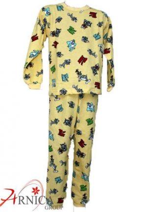 Детска пижама дълга в жълто