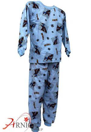 Детска пижама дълга в синьо