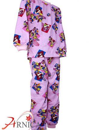 Детска пижама дълга в розово2