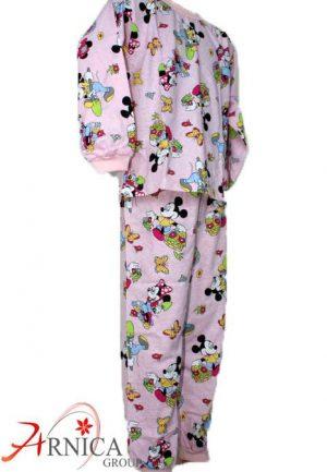 Детска пижама дълга в розово