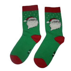 Коледни термо чорапи зелен Дядо Коледа