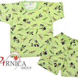 Пижама къс ръкав в зелено