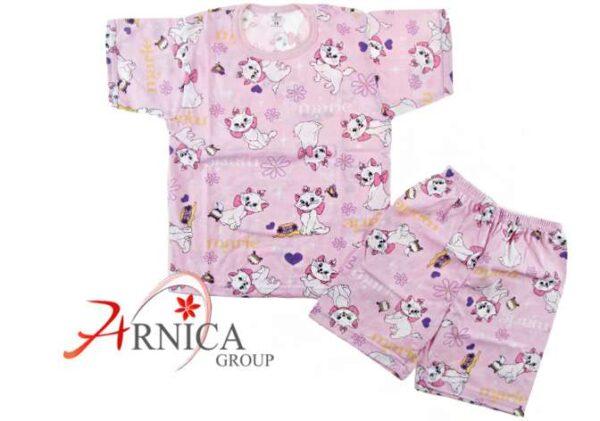 Пижама къс ръкав в розово