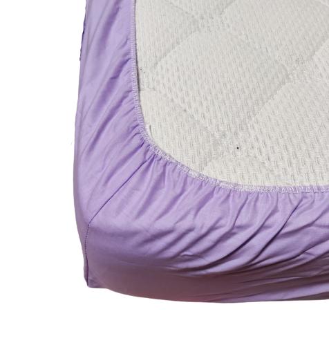 Долен чаршаф с ластик ранфорс лилав