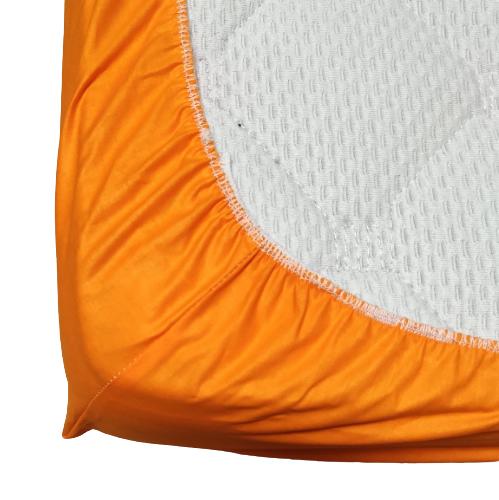 Долен чаршаф с ластик ранфорс оранж