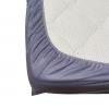 Долен чаршаф с ластик ранфорс сив