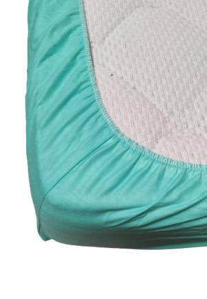 Долен чаршаф с ластик ранфорс зелен