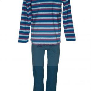 Пижама пениран памук райе бордо.