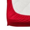 Долен чаршаф с ластик ранфорс червен