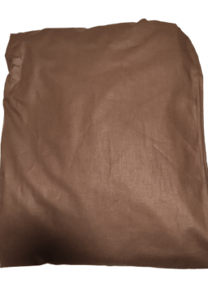 Долен чаршаф ранфорс кафяв