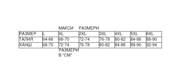 таблица макси
