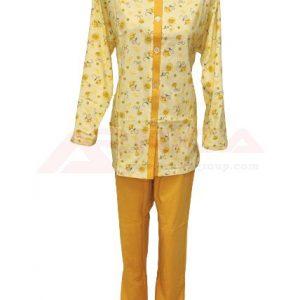 пижама-с-цяло-закопчаване-златев-жълта