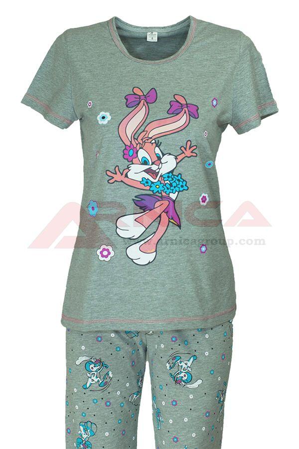 Дамска пижама заек