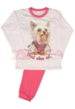 детска пижама пениран памук йорки