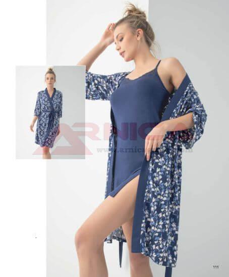 Комплект нощница с халат вискоза