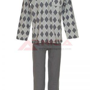 Пижама ромб в сиво
