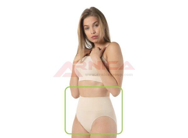 Безшевна бикина със стягащ колан