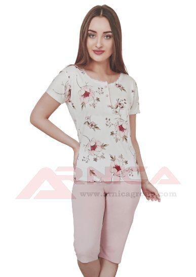 Дамска пижама Цветя