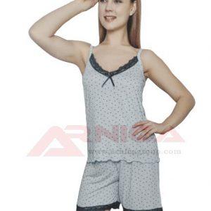 Дамска пижама с тънки презрамки Сърчица