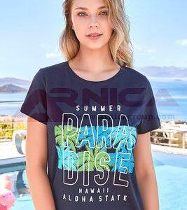 Дамски тениски с картинки синя