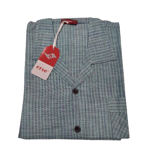 Мъжка пижама къс ръкав с копчета Поплин в 3 цвята