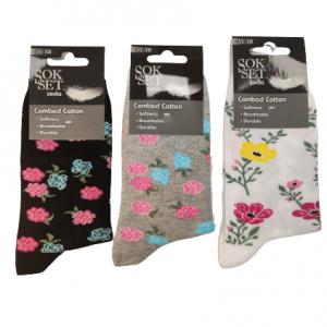 Дамски чорапи цветя