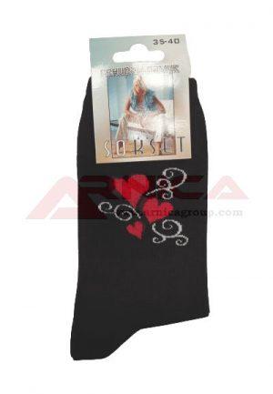 Дамски памучни чорапи Сърца